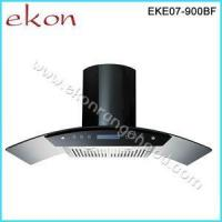 Wholesale 90cm Black Stainless Steel Glass Canopy Kitchen Cooker Hoods EKE07/900BF Black from china suppliers