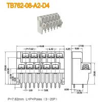 Wholesale Barrier Terminal Blocks -- TB Series TB762-08-A2-D4 from china suppliers