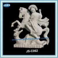 Buy cheap hand carved famous stone knight statue from wholesalers