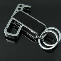 Wholesale Brand promotional gift print logo leather keychain from china suppliers
