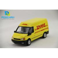 Wholesale Simulation Model 1:32 DHL metal van model toy from china suppliers