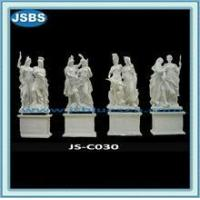 Buy cheap famous outdoor white marble hand carved warrior statue from wholesalers