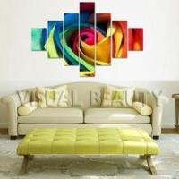 Modern Colorful Flower Multi-Panel Group Canvas Painting