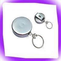 Buy cheap retractable metal badge reel with key ring from wholesalers