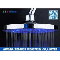 Hotel SPA Ceiling Mounted Rain Shower Heads Overhead , Blue Led Shower Head