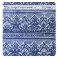 Wholesale Navy Nylon Lace Fabric Scalloped Lace Eyelash Fabric Garment Fabric from china suppliers