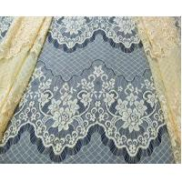 Wholesale Decorative Eyelash Nylon Lace Fabric Scalloped Yellow Polyamide for Night Dress(CY-DN0005) from china suppliers