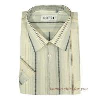 China Mens Linen Short Sleeve Shirts on sale