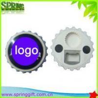 Wholesale multifunctional round bottle opener Refrigerator magnet sticker from china suppliers