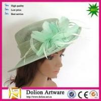 China Green Wedding Sinamay Flower Fascinator Hat With Headband on sale