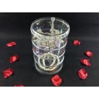 Wholesale Acrylic organizer Acrylic lucite 4 layers rotating revolving jewelry holder from china suppliers