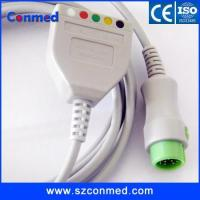 Wholesale Mindray T5 T8 3lead ECG TRUNK cable for DIN type AHA from china suppliers