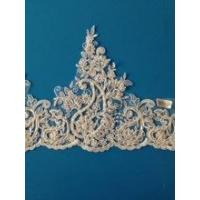China Hot Sell 100 Polyester Ivory Bridal Lace Trim Wholesale Made In China on sale