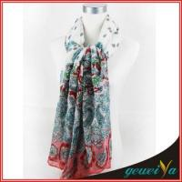 Wholesale Flower Butterfly Printing Lady Shawl Scarf from china suppliers