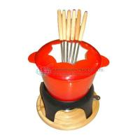 Wholesale CAST IRON FONDUE SET WSX 606E RED from china suppliers