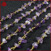 Wholesale Natural amethyst Chips Stone Beads Rosary Chain For Necklace OR Bracelet DIY from china suppliers