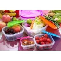 5pcsplastic lunch box set with lid /5pcs plastic food container set wi...