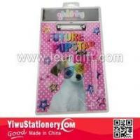 Wholesale Blister Packing Pink Dog Printed Writing Paper Clipboard from china suppliers