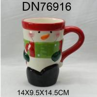 Wholesale Christmas Gift Ceramic cup with snowman design from china suppliers