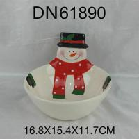 Wholesale Christmas Gift Ceramic snowman bowl from china suppliers