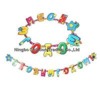 Wholesale Handmade Paper Letter Banner for Kids Birthday Decoration(PLB-019) from china suppliers