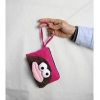 Coin purse/wallet factory price big mouth chinese silk coin purse