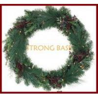 """Wholesale c /48"""" Pre-lit Crimson Harvest Battery Operated LED Wreath, Warm White Lights from china suppliers"""