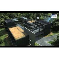 Solar Panel Prefab Container Homes Fully Finished Movable For Office