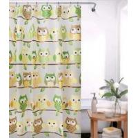 Wholesale New style owl peva shower curtain with hook 180*180cm from china suppliers