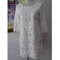 Wholesale Embroidery Woven Dress Collarless Dress from china suppliers
