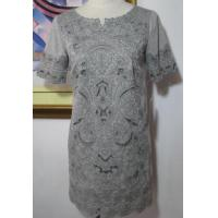 Wholesale Embroidery Knit Dress Mid Length Sleeve Dress from china suppliers