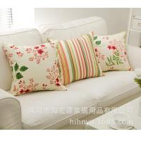 Wholesale Shenzhen pillow manufacturers Home Furnishing cloth cotton canvas lattice pastoral activity. from china suppliers