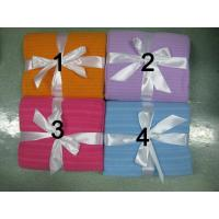 Wholesale st-01 Shiny striped polar fleece blanket from china suppliers