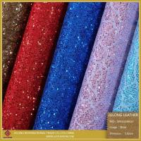 Wholesale Special Shoe Material Flower Lace Glitter PU Leather (SP013) from china suppliers