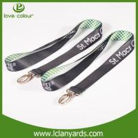 Wholesale Popular airlines buckle polyester material black plain lanyard from china suppliers