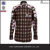 Wholesale Men fancy trims plaid shirts stylish from china suppliers
