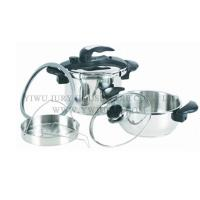 Wholesale Cookware Stainless steel pressure cooker 4L + 7L from china suppliers