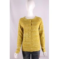 Wholesale C-019 Crew Neck Womens Structure Knit Cardigan, Spring/Summer Mouline sweater from china suppliers