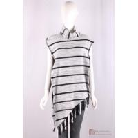 Wholesale P-056 Womens cape, jersey knit revers with stripe color, Fall/Winter, cotton/acrylic sweater from china suppliers