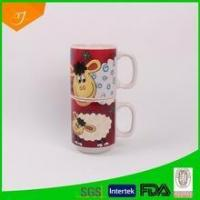 Wholesale Stackable Mug Stacking Ceramic Coffee Mug With Animal decal from china suppliers