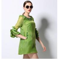 Wholesale fashion beaded trumpet sleeve dress from china suppliers