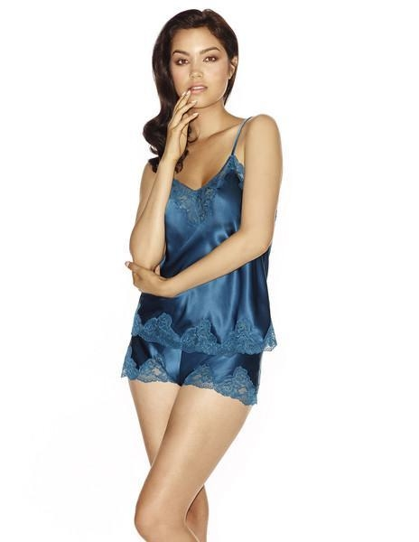 Quality MORGAN Spaghetti Silk Camisole in Petrol for sale