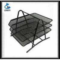 China Hot Sell Metal Mesh Office Stationery Desk Tray Stationery Tray 3 Tier Document File Tray on sale