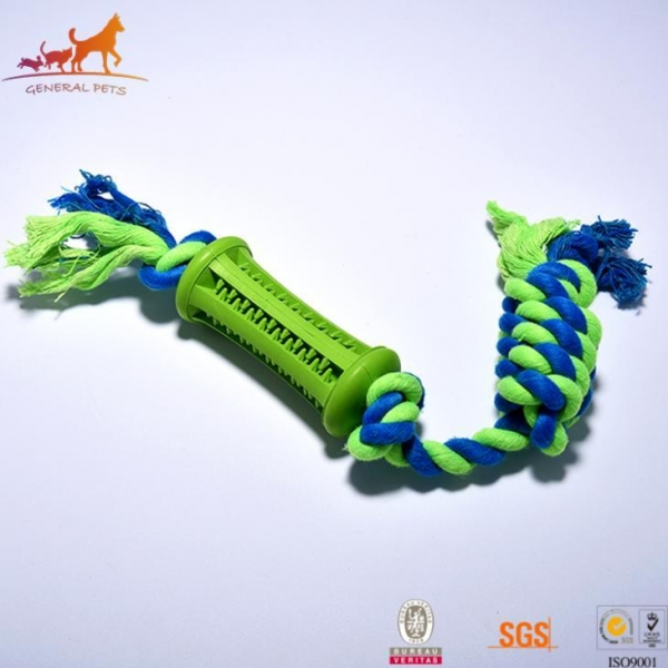 Tri Rubber Rope Dog Toy