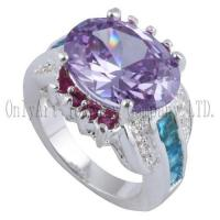 Wholesale OAR0291 Chinese factory price silver jewelry with CZ from china suppliers