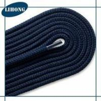 Wholesale drawcord Dark blue polyester fabric plastic tip for shoelaces from china suppliers