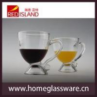 Wholesale 8 OZ glass cup for juice and wine with handle,transparent Creative Cup from china suppliers