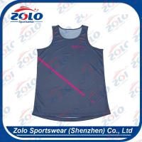 Wholesale Full Over Sublimated Mens Round Neck Running Vest from china suppliers