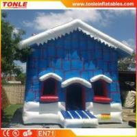 Wholesale Christmas Cottage inflatable bouncy castle/Christmas Cottage inflatable jumping bouncer for sale from china suppliers