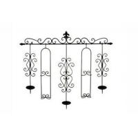 House decorate series Product name:Wrought Iron Wall Candle / Plate Holder Rack